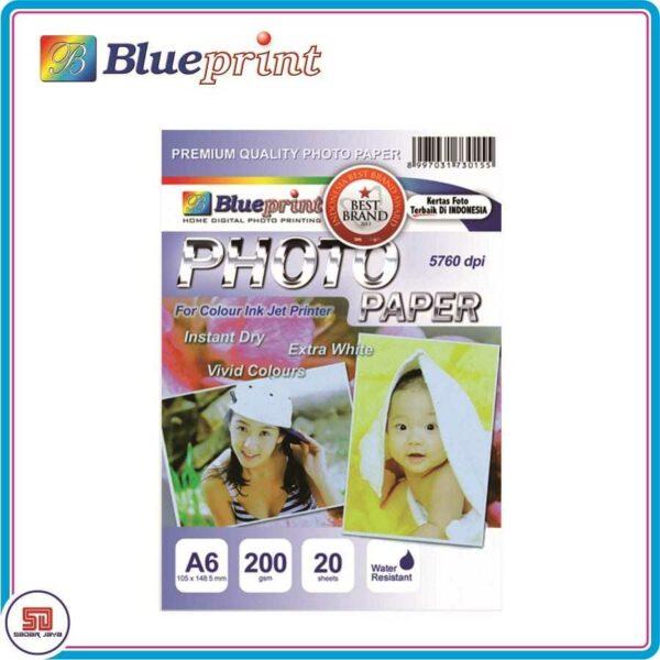 Blueprint Glossy Kertas Foto A6