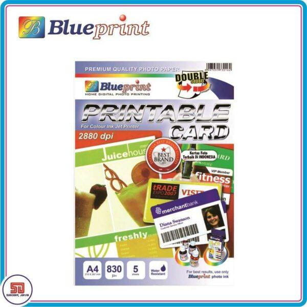 Blueprint A4 Paper ID Card