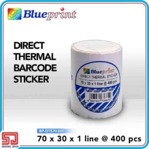 Direct Thermal Sticker Label 70 x 30mm