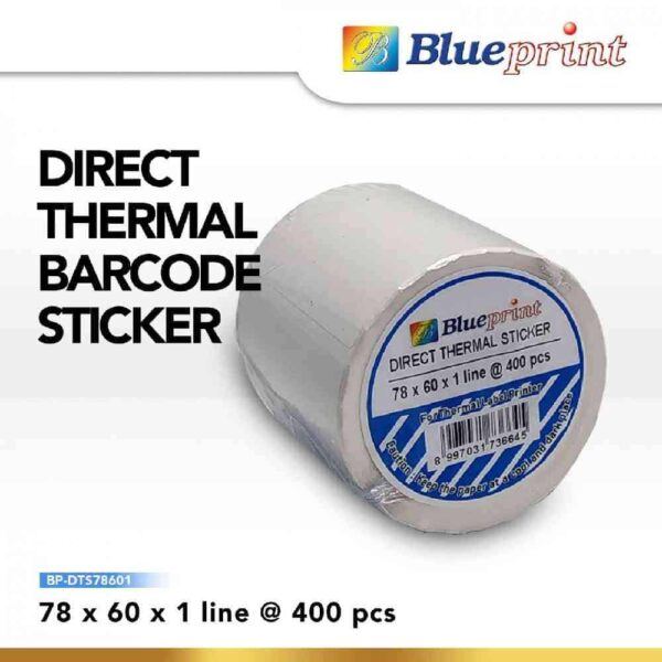 Direct Thermal Sticker Label 78 x 60mm