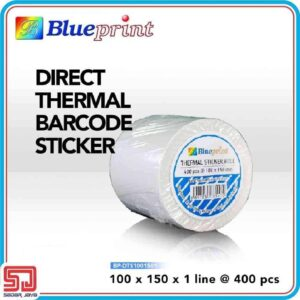 Direct Thermal Sticker Label 100 x 150mm