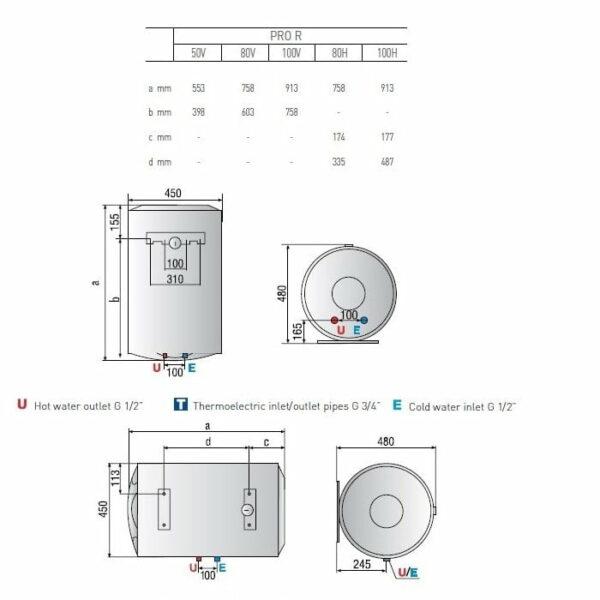 Ariston Pro R 80 Liter