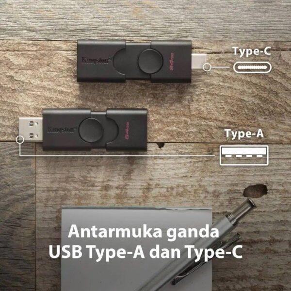 Kingston Flashdisk 32GB OTG USB 3.2 Type C