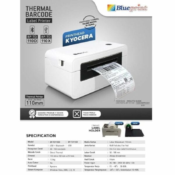 Blueprint TD110X Printer Thermal