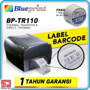 Blueprint BP - TR110 Printer Label Barcode Sticker
