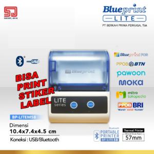 Printer Thermal Portable Struk Label Stiker Nota Kecil Bluetooth Lite 58